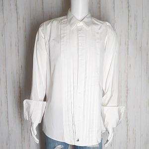 Nordstrom French Cuff Pleated Panel Tuxedo Shirt